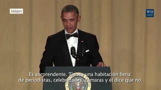 Obama se burla de Trump