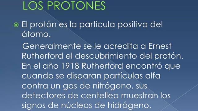 Explicación del protón