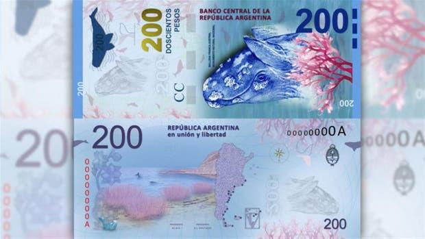 El billete de 200 pesos será presentado en Puerto Madryn