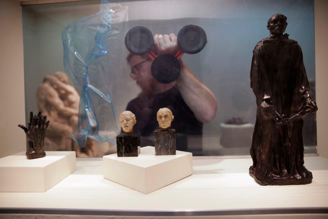"Estudios de ""Los burgueses de Calais"", de Rodin. Foto: LA NACION / Soledad Aznarez"
