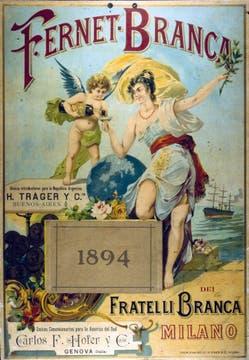 Afiche de 1894 para difundir en Buenos Aires los productos que se importaban. La empresa desembarcó en el país recién en 1945.. Foto: Gentileza Branca