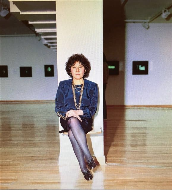 Ruth Benzacar en la sede de Florida 1000