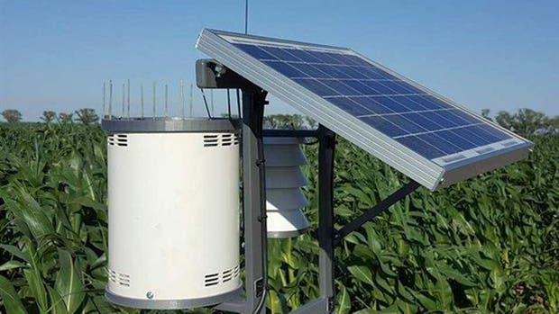 El pluviómetro con sensores