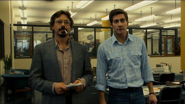 Robert Downey Jr. y Jake Gyllenhaal en Zodíaco; Mark Ruffalo también formó parte de la trifecta