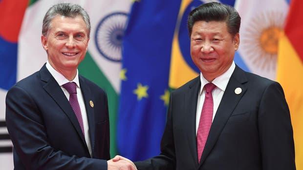 Mauricio Macri junto a su par de China, Xi Jinping, en la cumbre del G-20