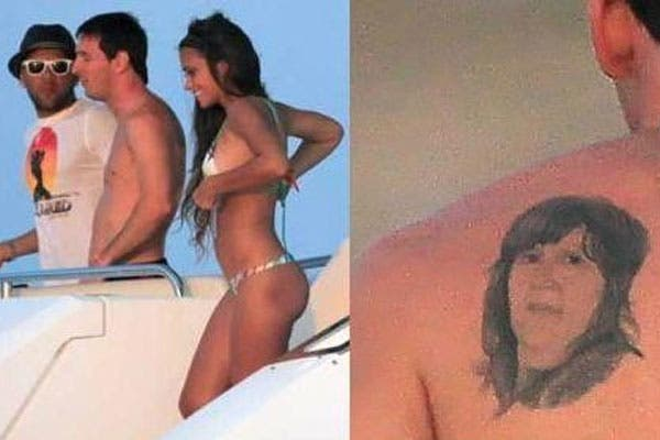 Leo ya tenía un tatuaje con la cara de su madre.  /@leomessifansclub