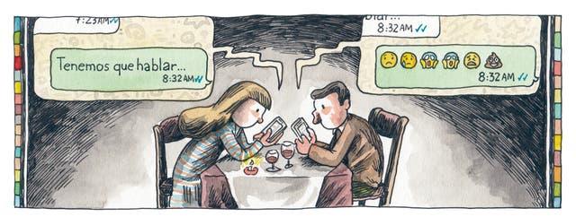 En la ilustración de Macanudo del diario LA NACION del 7 de agosto, Liniers también tocaba el tema con humor