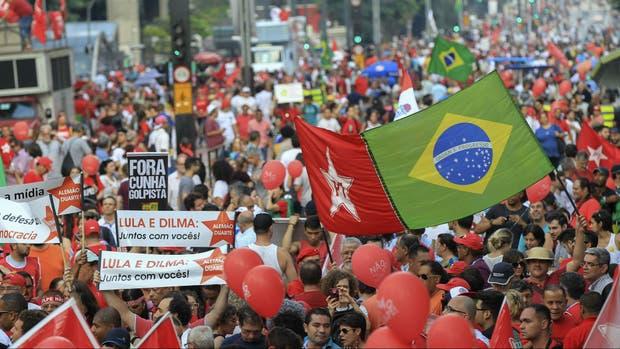 La izquierda brasileña en las calles de San Pablo