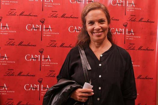 Sandra Mihanovich estuvo en la premiere de la emblemática obra histórica. Foto: Gentileza prensa Camila