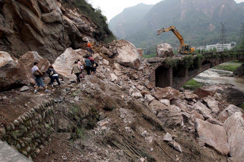De magnitud 6,6 en la escala de Richter el temblor sacudió una región montañosa de Sichuán. Foto: AFP