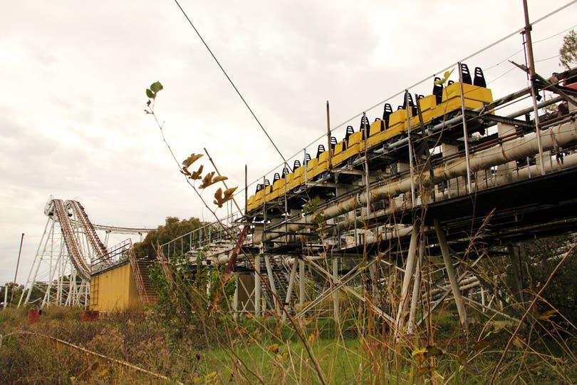 Vertigorama costó u$s 10 millones; es la montaña rusa de doble circuito más grande del mundo con una longitud de 1800 mts. Foto: LA NACION / Mauricio Giambartolomei
