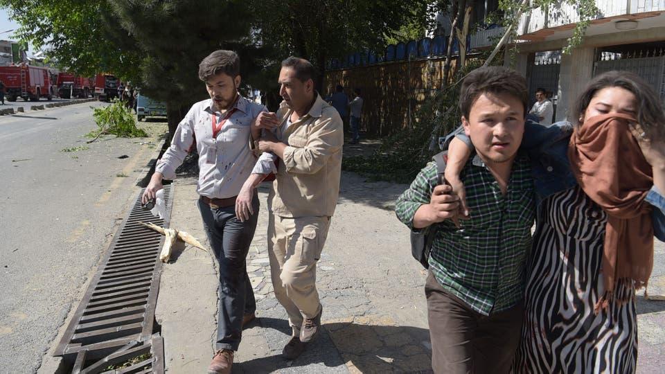 El atentado ocurrió en una calle muy concurrida por el tráfico a esa hora del día. Foto: AFP