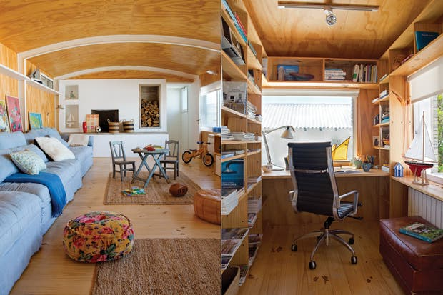 Baños Estilo Nautico:La estructura comprende un playroom grande, un baño completo, una