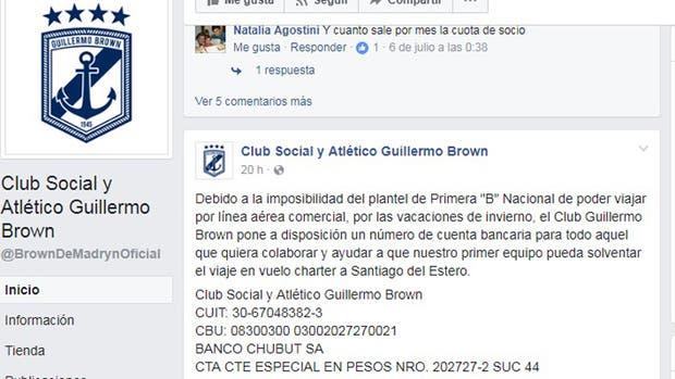 La solicitada de Brown de Puerto Madryn