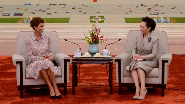 Awada se reunió hoy con su par de China, Peng Liyuan
