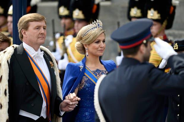 Máxima y Guillermo en la ceremonia de entronización