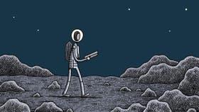 Un policía en la luna, de Tom Gauld