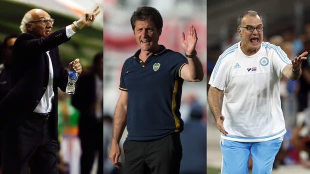 Carlos Bianchi, Guillermo Barros Schelotto y Marcelo Bielsa