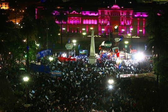 Los festejos en Plaza de Mayo. Foto: LA NACION / Mariana Araujo