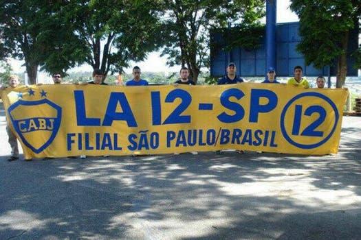 """De Brasil, La 12 São Paulo siempre con Boca"". Foto: @cauciello"