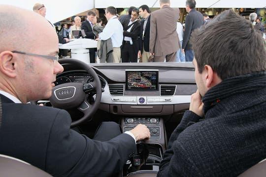 El interior de un vehículo Audi en la feria CES de Las Vegas. Foto: AFP