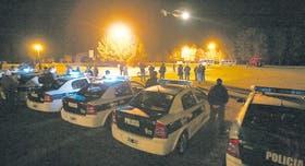 Scioli despega, ante un fuerte operativo policial en Balcarce; ya había pasado el susto en Lobería
