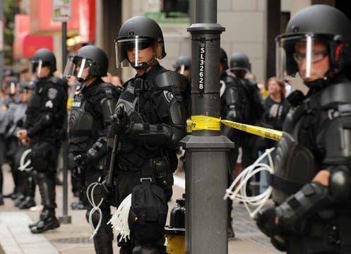 Miles de efectivos policiales se desplegaron por la ciudad de Pittsburgh para garantizar la seguridad de los mandatarios y sus respectivas comitivas.. Foto: EFE