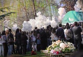 El funeral, el domingo pasado, de Blanca Vicuña Ardohain, en Santiago de Chile