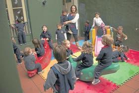 Los chicos juegan en un jardín de infantes de Villa Urquiza
