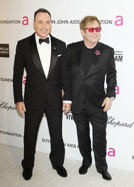 Elton John y David Furnish, anfitriones de la gala a beneficio de su fundación de lucha contra el sida.  Foto:  / Getty Images