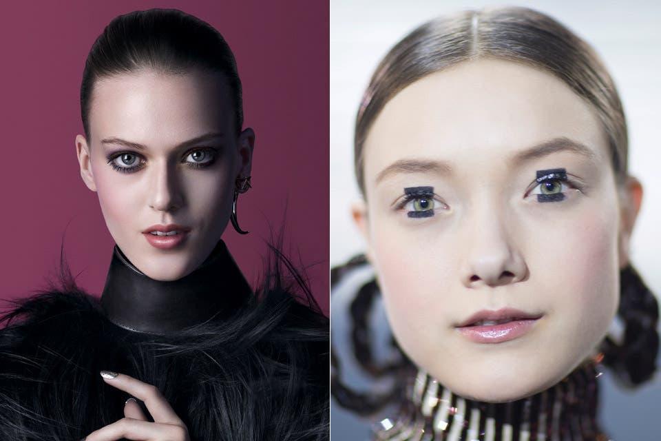 A la izq., Givenchy; a la der., Dior.