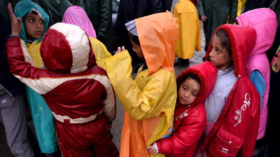 Se estima en más de 4000 la cantidad de niños en Idomeni, Grecia. Foto: EFE