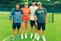 Una 'diablita' en Wimbledon: la tenista norteamericana que usó la camiseta del Rojo y su vínculo con Mancuello