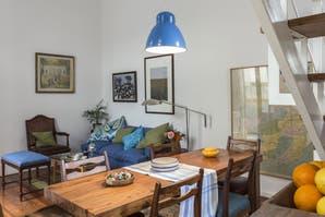 Solución 390: ideas para decorar un living-comedor con detalles de color