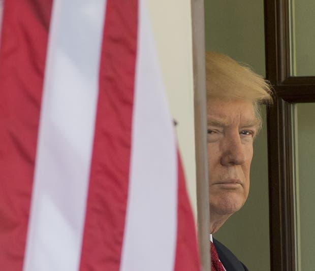 Trump, ayer, en la Casa Blanca