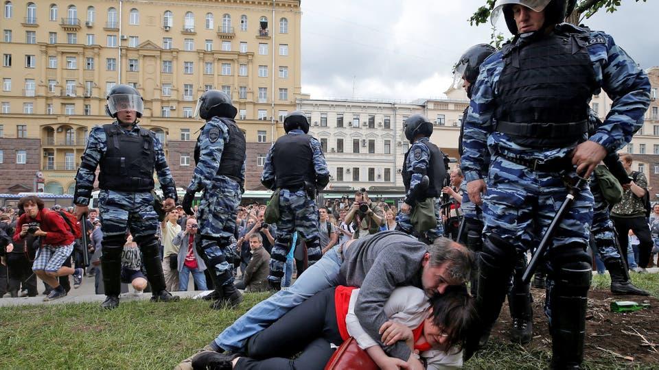 """Los manifestantes gritaban consignas como """"Fuera el zar"""", """"Putin ladrón"""", """"Rusia será libre"""", """"Somos el poder"""" y """"Medvedev dimisión"""". Foto: Reuters"""