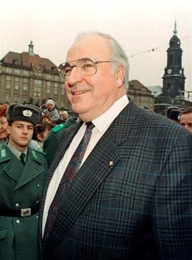 Kohl, en Dresden, en 1989