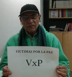 """Alberto se sumó a """"Víctimas por la Paz"""", una agrupación de personas que apelan a las respuestas no violentas ante el delito"""