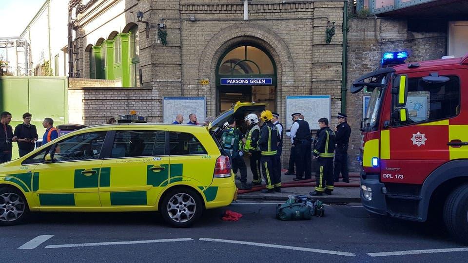 """La estación Parsons Green, en Fulham, sufrió una explosión que la policía catalogó como """"incidente terrorista"""". Foto: Reuters"""