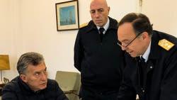 Mauricio Macri recibió informes sobre el operativo de búsqueda