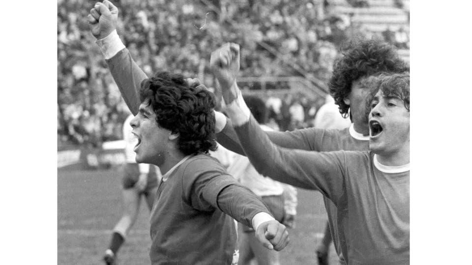 27-7-1980: contra Vélez hizo el gol del 1 a 1. Foto: LA NACION