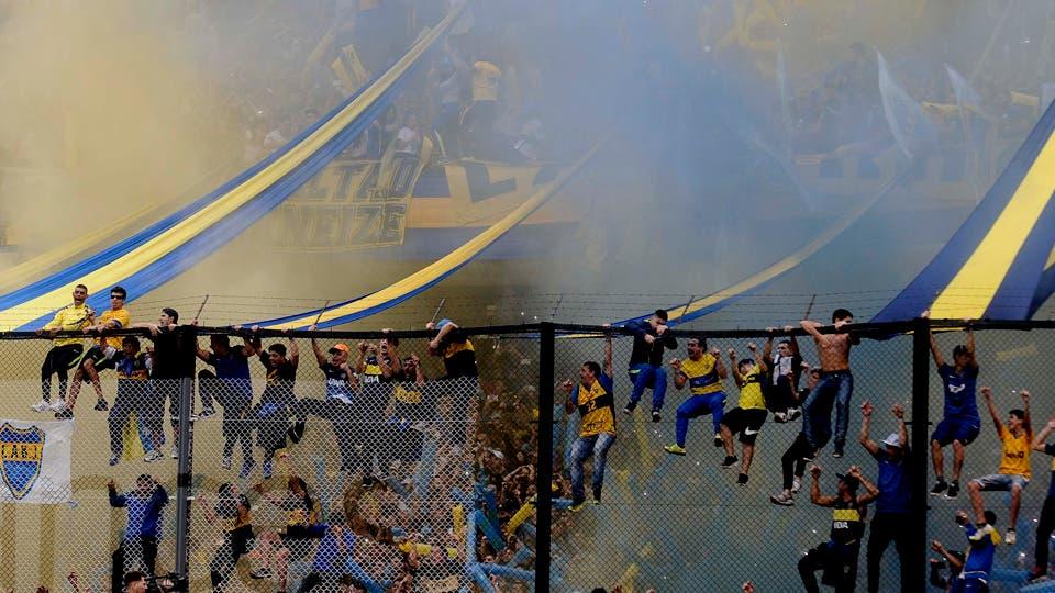 La gran fiesta Boquense. Foto: DyN / Fabián Marelli