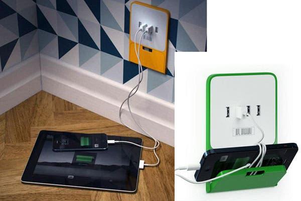 Un enchufe para cargar lo que sea con USB. Súper práctico para cuando tenemos que cargar algún dispositivo a la noche. ¿Qué les parece?. Foto: gadgetsin.com