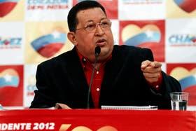 Lanzado de lleno a la campaña, Chávez aprovechó ayer para criticar a su contrincante, Henrique Capriles