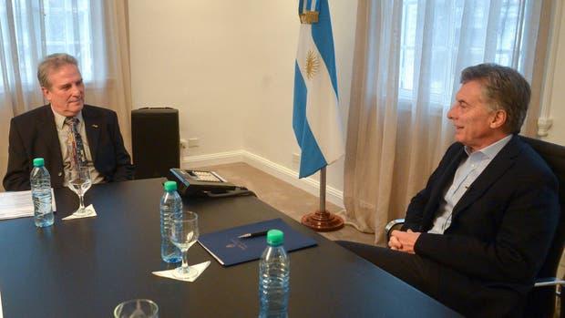 Ernesto Calvo con Mauricio Macri