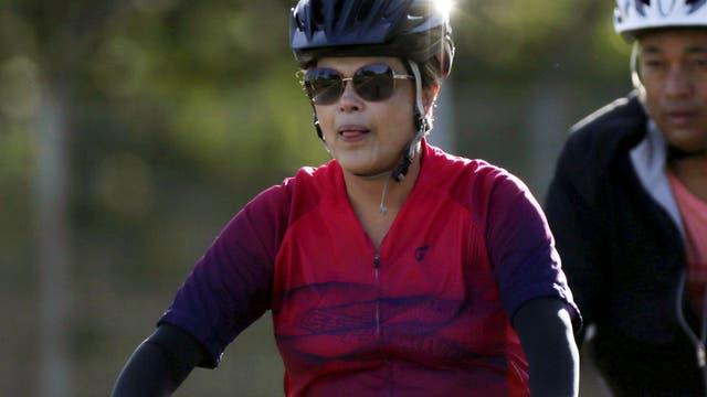 Dilma sólo salió ayer para hacer ejercicio