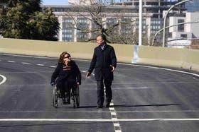 Mauricio Macri y Gabriela Michetti en el acto de hoy