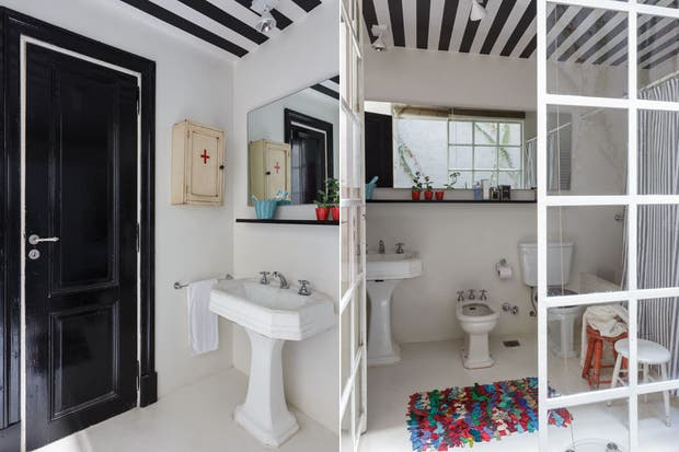 Botiquin Baño Antiguo:En el baño se instalaron artefactos antiguos (Casa Pataro), piso de