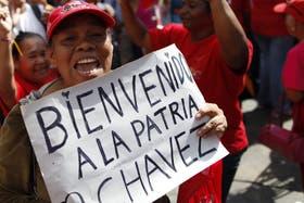 Hugo Chávez regresó a Caracas
