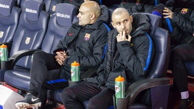 Javier Mascherano debió acostumbrarse a ser suplente en Barcelona
